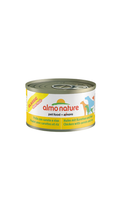 Almo Nature Dog Classic Home Made Chicken with Carrots and Rice   Wet (Lata)