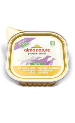 Almo Nature Dog DailyMenu Bio Puppy with Chicken and Milk | Wet (Terrina)