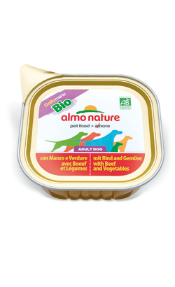Almo Nature Dog DailyMenu Bio with Beef and Vegetables | Wet (Terrina)