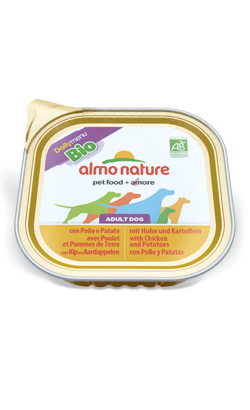 Almo Nature Dog DailyMenu Bio with Chicken and Potato | Wet (Terrina)