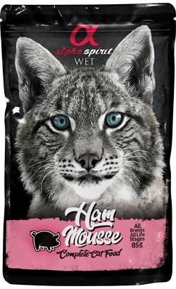Alpha Spirit Cat Mousse Presunto  Wet (Saqueta)