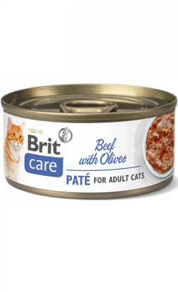 Brit Care Cat Beef Paté with Olives | Wet (Lata)