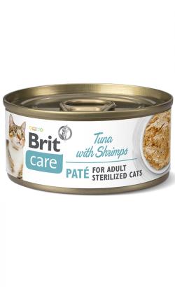Brit Care Cat Sterilised Tuna Paté with Shrimps | Wet (Lata)