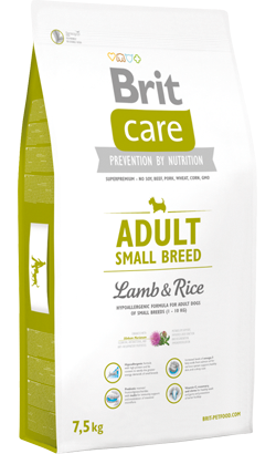 Brit Care Dog Adult Small Breed | Lamb & Rice