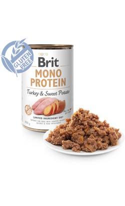 Brit Care Dog Mono Protein Turkey & Sweet Potato | Wet (Lata)