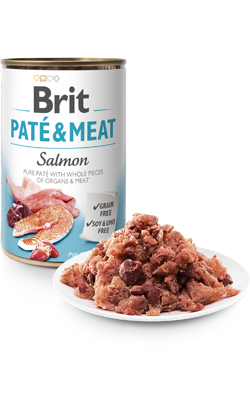 Brit Care Dog Paté & Meat Salmon   Wet (Lata)