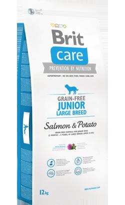 Brit Care Grain-free Dog Junior Large Breed | Salmon & Potato