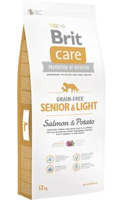 Brit Care Grain-free Dog Senior & Light | Salmon & Potato