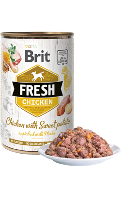 Brit Fresh Dog Chicken with Sweet Potato | Wet (Lata)