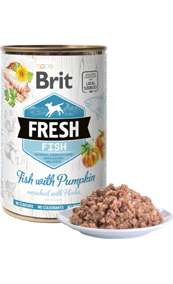 Brit Fresh Dog Fish with Pumpkin | Wet (Lata)