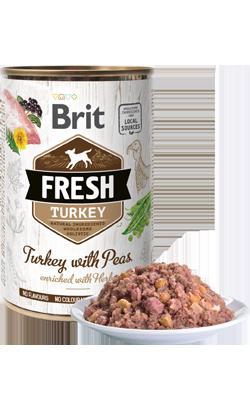 Brit Fresh Dog Turkey with Peas | Wet (Lata)