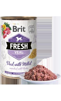 Brit Fresh Dog Veal with Millet | Wet (Lata)