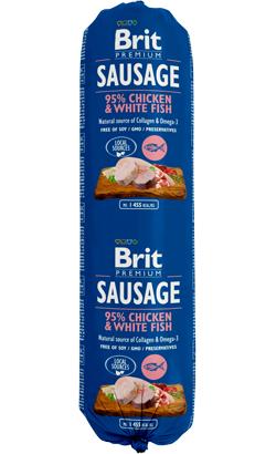 Brit Sausage Dog Chicken & White Fish
