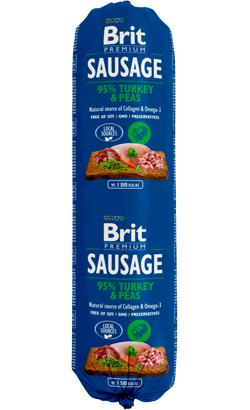Brit Sausage Dog Turkey & Peas