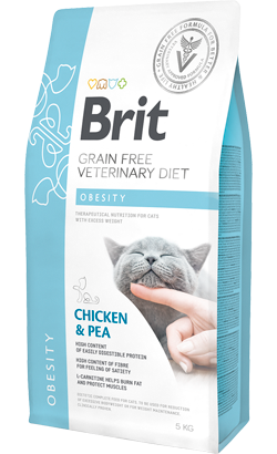 Brit Veterinary Diet Cat Obesity Grain-Free Chicken & Pea