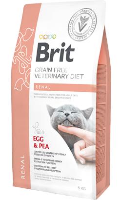 Brit Veterinary Diet Cat Renal Grain-Free Egg & Pea