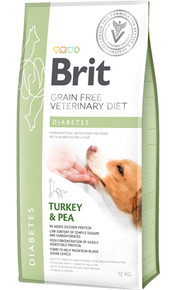 Brit Veterinary Diet Dog Diabetes Grain-Free Turkey & Pea