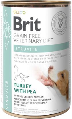 Brit Veterinary Diet Dog Struvite Grain-Free Turkey with Pea | Wet (Lata)