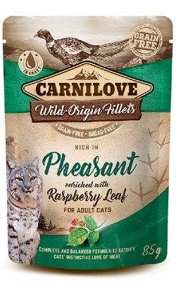 Carnilove Cat Pheasant with Raspberry Leaves | Wet (Saqueta)
