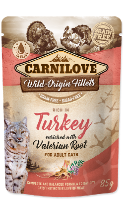 Carnilove Cat Turkey with Valerian Root | Wet (Saqueta)