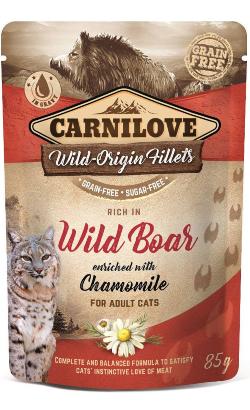 Carnilove Cat Wild Boar with Chamomile   Wet (Saqueta)
