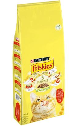 Friskies Gato Adulto | Carne de Vaca, Frango e Legumes