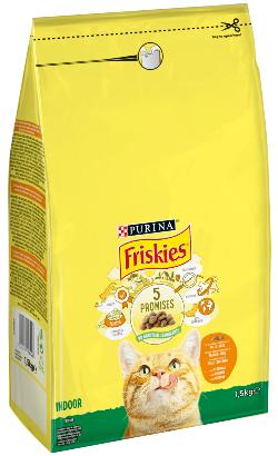Friskies Gato Interior | Frango, Ervilhas e Salsa