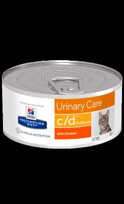 Hills Prescription Diet Feline c/d Multicare Chicken   Wet (Lata)