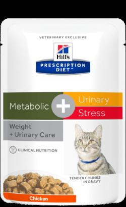 Hills Prescription Diet Feline c/d Urinary Stress + Metabolic   Wet (Saqueta)