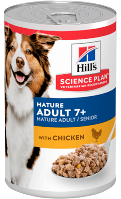 Hills Science Plan Mature Adult 7+ Dog with Chicken | Wet (Lata)