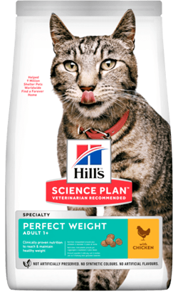 Hills Science Plan Perfect Weight Adult Cat with Chicken