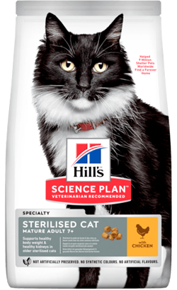 Hills Science Plan Sterilised Mature Adult 7+ Cat with Chicken