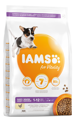 Iams for Vitality Small and Medium Breed Dog Puppy Food with Fresh Chicken