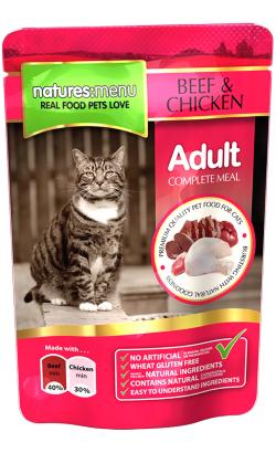 Natures Menu Cat Beef and Chicken| Wet (Saqueta)