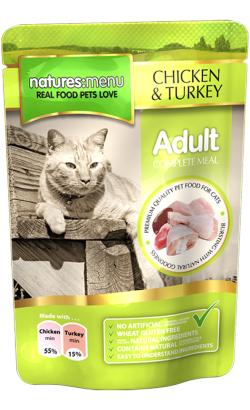 Natures Menu Cat Chicken and Turkey   Wet (Saqueta)