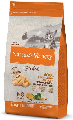 Natures Variety Cat Selected No Grain Kitten Frango Campo