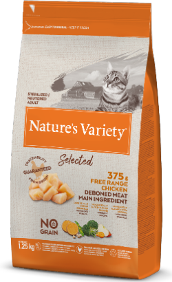 Natures Variety Cat Selected No Grain Sterilised Frango Campo