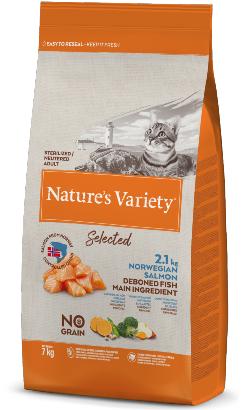 Natures Variety Cat Selected No Grain Sterilised Salmao da Noruega
