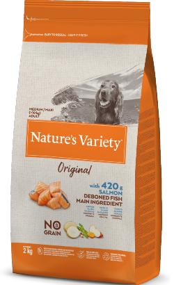 Natures Variety Dog Original No Grain Medium Maxi Adulto Salmao