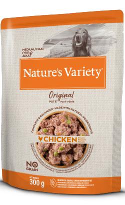 Natures Variety Dog Original No Grain Medium Maxi Frango Paté   Wet (Saqueta)