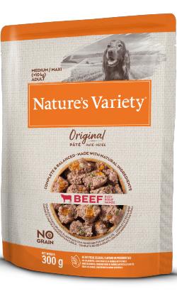 Natures Variety Dog Original No Grain Medium Maxi Vaca Paté | Wet (Saqueta)