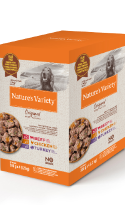 Natures Variety Dog Original No Grain Medium Maxi Paté Multipack   Wet (Saqueta)
