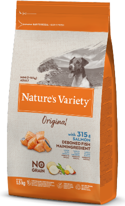 Natures Variety Dog Original No Grain Mini Adulto Salmão