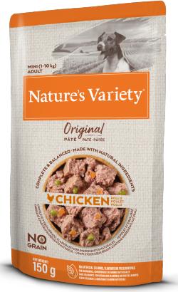 Natures Variety Dog Original No Grain Mini Frango Paté   Wet (Saqueta)
