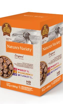 Natures Variety Dog Original No Grain Mini Paté Multipack | Wet (Saqueta)