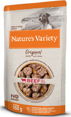Natures Variety Dog Original No Grain Mini Vaca Paté | Wet (Saqueta)
