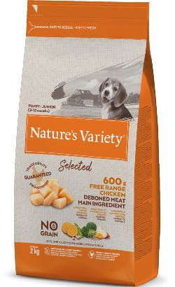 Natures Variety Dog Selected No Grain Junior Frango Campo