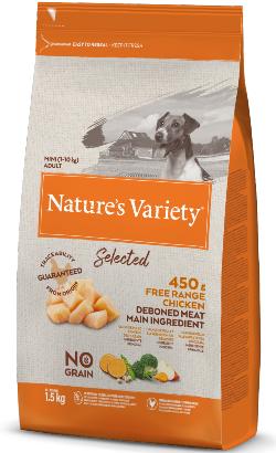 Natures Variety Dog Selected No Grain Mini Adulto Frango Campo