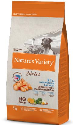Natures Variety Dog Selected No Grain Mini Adulto Salmao da Noruega