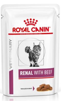 Royal Canin Renal Feline with Beef | Wet (Saqueta)